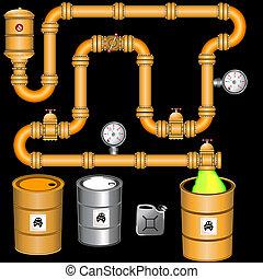 Gelbe Pipeline-Hintergrund
