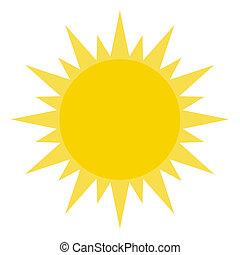 Gelbe Sonne scheint