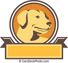 Gelber Labrador mit goldenem Retriever.