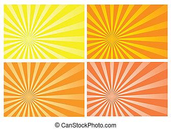 Gelber Sonnenstrahl