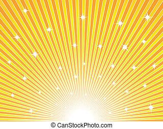 Gelber und oranger sonniger Hintergrund
