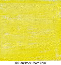 Gelber Wasserfarbe abstrakt mit Leinwandsims