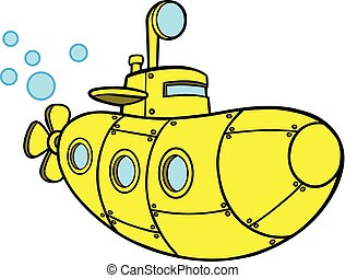 Gelbes U-Boot.