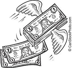 Geld, das wegfliegt