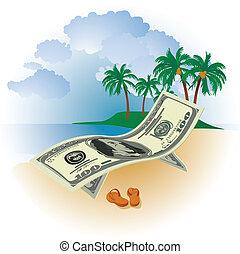 Geld im Urlaub.