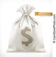 Geldbeutel. 3-D-Vektor-Icon
