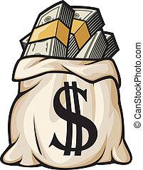 Geldbeutel mit Dollarzeichen