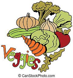 Gemüse bereit.