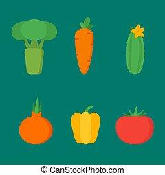 Gemüse setzt Vektorobjekte Clipart
