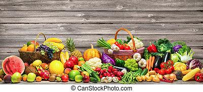 Gemüse und Früchte Hintergrund.