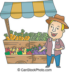 Gemüsestand.