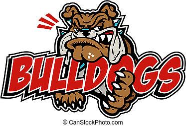 Gemeine Bulldogge mit Wortwahl