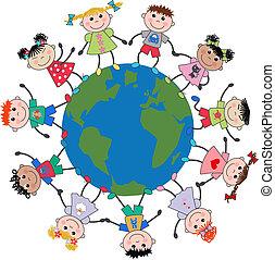 Gemischte ethnische Kinder