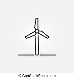 generator, grobdarstellung, turbine, wind, ikone, begriff, macht, vektor