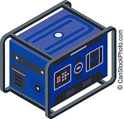 generator, stil, isometrisch, ikone, macht