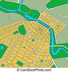 generisch, landkarte, städtisch, stadt