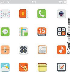 Generische Smartphone UI-Ikonen