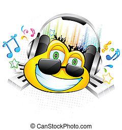 genießen, musik, smiley