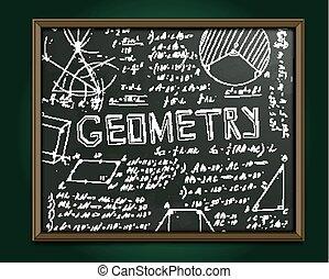 Geometrie-Blackboard-Bild