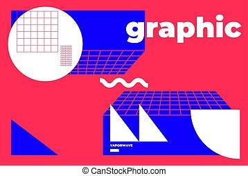 geometrisch, modern, satz, formen