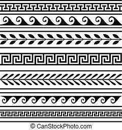 Geometrische griechische Grenzen