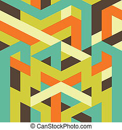 geometrische Muster abbrechen