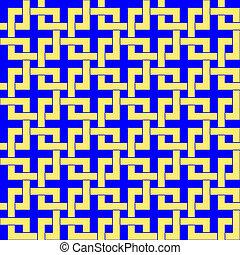 Geometrische Zierde. Leichtes Muster