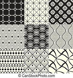 Geometrischer schwarz/weißer Hintergrund.