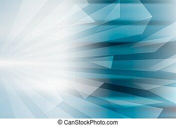 Geometrisches blaues Hintergrunddesign