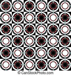 Geometrisches Muster mit Kreisen