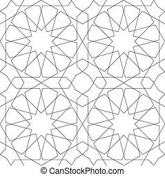 Geometrisches, nahrloses Muster weiß