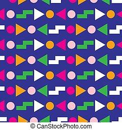 Geometrisches, nahtloses Muster 80s Design