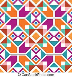 Geometrisches, nahtloses Muster.