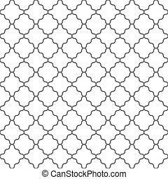 Geometrisches, nahtloses Muster im islamischen Stil