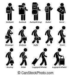 Gepäck und Gepäck.