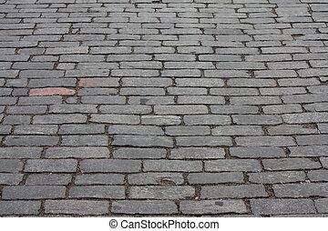 Gepflasterte Straße