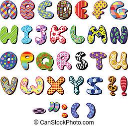 Gepflastertes Alphabet