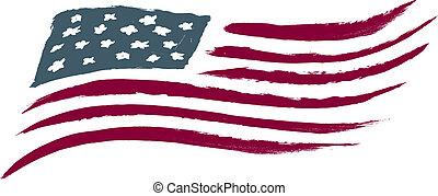 Gequetschte amerikanische Flagge