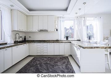 Geräumige und moderne Küche.