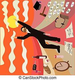 gerichte, orthodox, drawing., geld, aufmerksam, kinder, arme, sorgen, heben, zeichnung, hintergrund, vektor, skyward., bunte, gegen, world:, lebensmittel, schauen, jude, hasidic, himmel