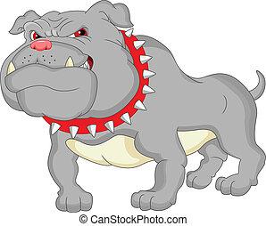 German Bulldog Cartoon.