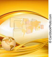 Geschäftlich eleganter Gold Hintergrund
