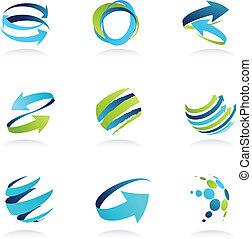 Geschäftliche abstrakte Ikonen