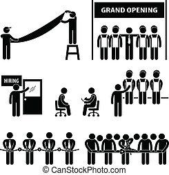 Geschäftliche große Eröffnung