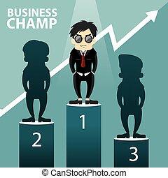 Geschäfts-Champion-Vektorgrafik.