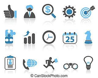 Geschäfts-Ikonen, blaue Serie