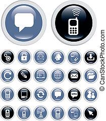 Geschäfts-Technologie-Ikonen