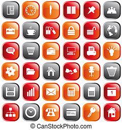 Geschäfts- und Büro-Icons eingestellt.