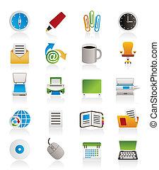 Geschäfts- und Bürowerkzeug-Ikonen