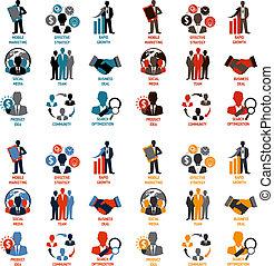Geschäfts- und Management-Icons.